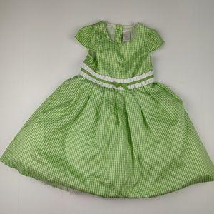 Gymboree Girls Dress Green and White Size 3/3T